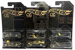 Hot Wheels New 1:64 50th Anniversary Black & Gold Collection