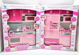 1 Kitchen Play Set For Barbie Doll House Furniture Cooking T