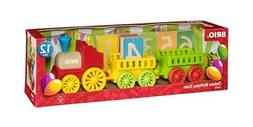 BRIO 10 Piece Deluxe Birthday Train Toy with Candle and Age