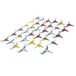100pcs Fighter Jets Model Airport Playset Airplane Aircraft