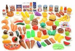 120 Pcs Lot Grocery Beverages Pretend Play Food BPA Free Pla