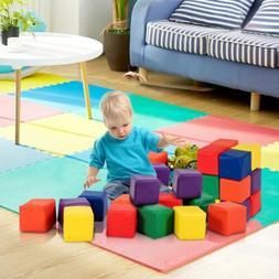 """12PCS 5.5"""" Kids Children Colorful Soft Foam Building Blocks"""
