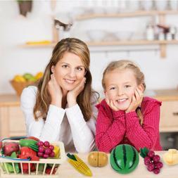12Pcs Food Play Set Cut Fruit Kids Toddler Toy Pretend Kitch
