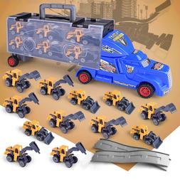 13Pcs/Set Kids Construction Truck Vehicle Car Toy Play Vehic