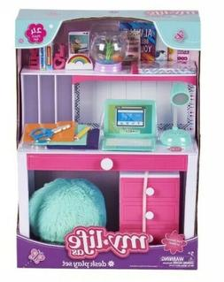 """My Life As 18"""" Desk Play Set Chair Accessories Set Lamp Bran"""