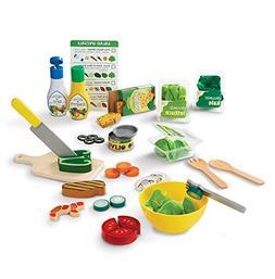 Melissa & Doug Slice and Toss Salad Play Food Set – 52 Woo