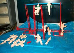 1972 Mattel Play set circus figures clowns and acrobats