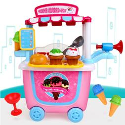 1pcs Ice Cream Toy Set Funny Pretend Play Playset Learning T