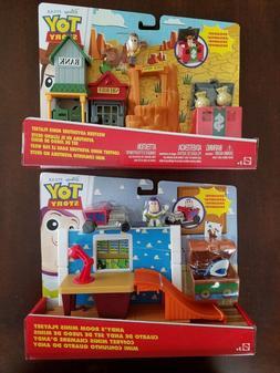 2 Disney Pixar Toy Story Adventure Minis Playsets w/ Woody &