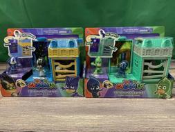 2 Sets Disney Junior PJ Masks Trap & Escape Gekko & Night Ni