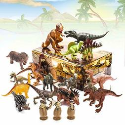 20 Packs Dinosaurs Toy - Play Set for Toddlers - Boys Educat