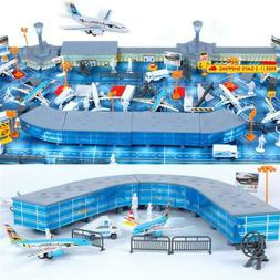 200 Pieces Aircraft Model Playset Airport Assembled Toys For