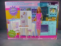 "Mattel 2002 BARBIE Doll ""Living In Style"" Kitchen Playset 67"