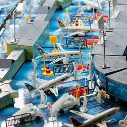 200pcs Airport Playset Airplane Aircraft Models Accessories