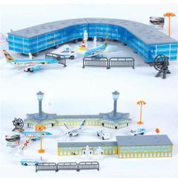 200PCS/Set Airport Playset Airplane Aircraft Models Assemble