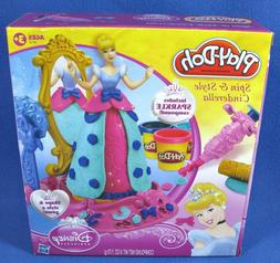 Hasbro 2012 Play-Doh Spin & Style Cinderella Play Set NIB