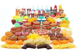 202 Piece Pretend Food Toys Kitchen Sets & Play Food for Kid