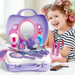 21 Pcs Pretend Play Set Hair Dryer Makeup Toy Set Beauty Fas