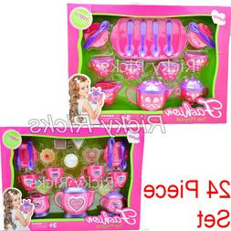 24 Piece Tea Set Pretend Play Kitchen Play Set Kids Toy Jugu