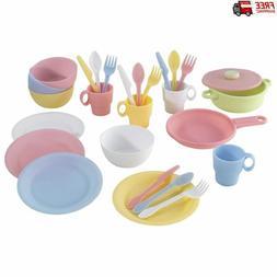 KidKraft 27pc Cookware Set Pastel Kids pretend Play Toy Kitc