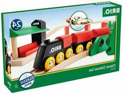 BRIO 33424 Classic Deluxe Railway Set, Wooden - NEW Open box