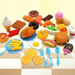 34pcs Fun Play Food Set for Kids Kitchen Cooking Kid Toy Lot