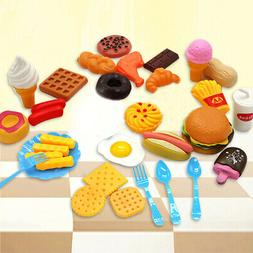 32pcs Fun Play Food Set for Kids Kitchen Cooking Kid Toy Lot