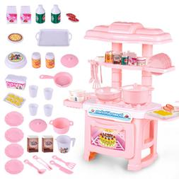 34PCS Kitchen Play Set Pretend Baker Kids Toy Cooking Playse
