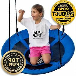 "Saucer Tree Swing - 40"" Round Swing Set - Attaches to Tree"
