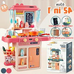42PCS Kitchen Playset Play Children Toy Food Grill Cooking S