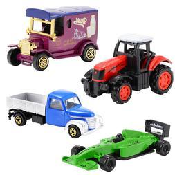 Kuulee 4PCS Diecast Metal Car Models <font><b>Play</b></font