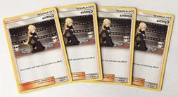 4x CYNTHIA 119/156 Pokemon TCG : S&M Ultra Prism Supporter -