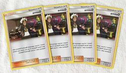 4x GUZMA 115/147 Pokemon TCG : S&M Burning Shadows Supporter