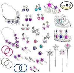 50pcs princess jewelry dress up accessories toy
