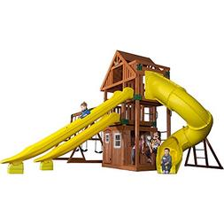 Backyard Discovery Traverse All Cedar Wooden Swing Set
