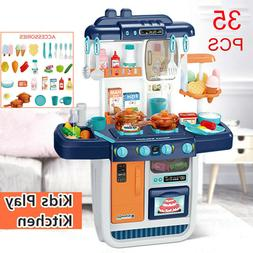 35Pcs Kitchen Play Set Pretend Baker Kids Toy Cooking Playse