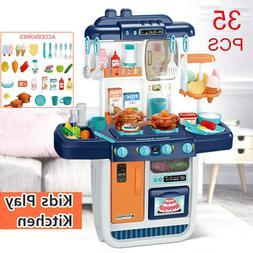 57pcs Kitchen Play Set Pretend Baker Kids Toy Cooking Playse