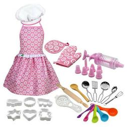 5X(Kids Cooking and Baking Set Kitchen Role Play Set Include