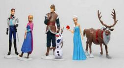 6 Pcs Frozen Elsa Olaf Sven Anna Hans Action Figure Play set