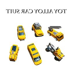 6pcs 5 Colors Assorted Alloy Mini Truck <font><b>Toy</b></fo