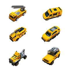 6Pcs Assorted Truck <font><b>Toy</b></font> And Race Car <fo