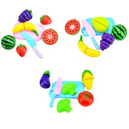 6PCS Kids Baby food Party Fast Food Cooking Cutting Pretend