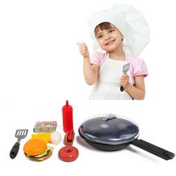9-piece Fast Food Playset Kitchen Pretend Cooking Toys for K