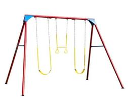 Lifetime 90200 Heavy Duty A-Frame Metal Swing Set, Primary C