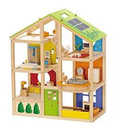 All Seasons Kids Wooden Dollhouse by Hape | Award Winning 3