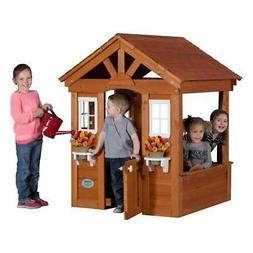 Backyard Discovery Columbus All Cedar Wood Playhouse