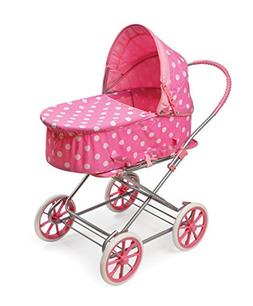 Badger Basket 3-in-1 Doll Pram, Carrier, and Stroller , Pink