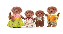 Calico Critters CC1454 Chocolate Labrador Family Doll Set