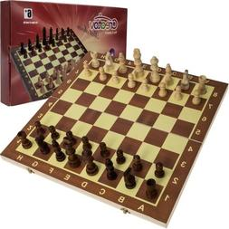 Classic Wooden Chess Set Board – Folding Boards With Stora