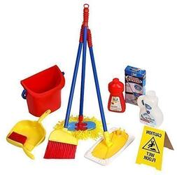 Click n' Play 10 Piece Kids Pretend Play Cleaning Set, Water